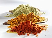 Various types of paprika