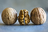 Three walnuts in a row