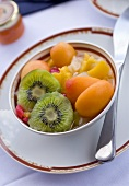 Fruit salad with kiwi fruit and apricots