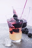Double-decker (Non-alcoholic drink with blackberries & pineapple juice)