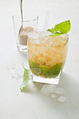Citrojo (Drink made with lemon balm, lime and Bionade)