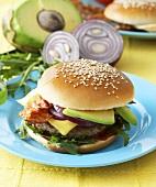 California Hamburger with avocado and bacon