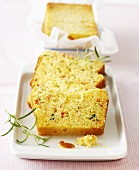 Cornbread with red and green chillies