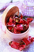 Festive pistachio caramels to give as a gift