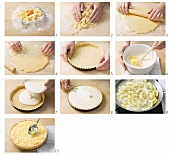 Making crostata al limone (Lemon tart, Italy)