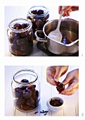Bottling plums