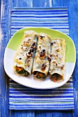 Cannelloni vegetariani (Cannelloni with vegetable filling, Italy)