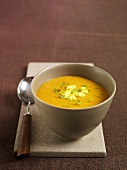 Spicy sweet potato soup with ginger