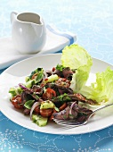 Spicy beef salad with chillies