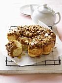 Honey and pecan bun round