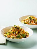 Raw vegetable salad with fresh coriander