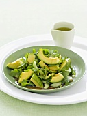 Asian-style avocado salad with fresh coriander