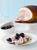 Ham with balsamic cherries (Christmas)