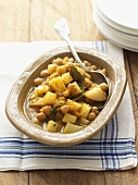 Potato and chick-pea stew