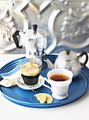 Tea, teapot, espresso and espresso pot