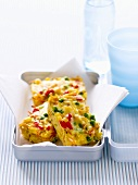 Pasta and vegetable frittata