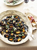 Mussels with caponata