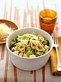 Orecchiette with broccoli, pine nuts and cheese