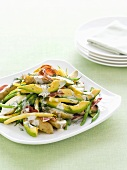 Potato, avocado and bean salad
