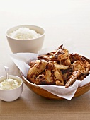 Creole-style chicken wings