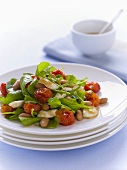 Borlotti bean, tomato and rocket salad
