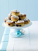 Several blueberry friands (Christmas)