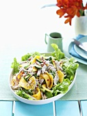 Spicy chicken and mango salad