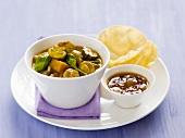 Chicken and mushroom curry