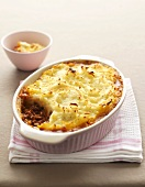 Cottage pie (Mince with mashed potato topping, UK)