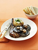 Pork and Portobello mushrooms with Hoisin sauce