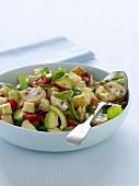 Mushroom, avocado and tomato salad