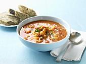 Sweet potato and chick-pea soup