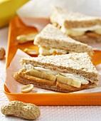 Peanut butter, banana and fish tramezzini