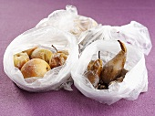Dried pears and dried apples