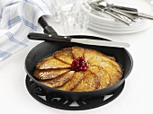 Potato and chick-pea pancakes with cranberries