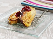Bavesen (Bavarian French toast) with fresh plum jam
