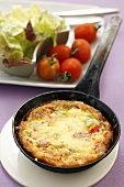 Salami and pepper frittata