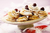 Fried pastries with cherries