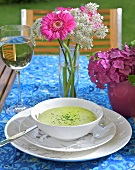 Artichoke and watercress soup