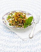 Glass noodle, mushroom and vegetable salad