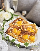 Apricot puff pastry tarts with almonds (Christmas)