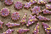 Assorted decorated Christmas biscuits