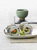 Four chumaki sushi