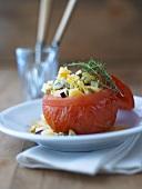 Tomato stuffed with potato salad
