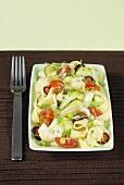 Pasta, ham and vegetable salad