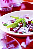 Bean and onion salad with cranberries