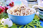 Egg salad with pine nuts for Easter