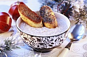 Barley soup with poppy seed pastries, Lithuania (Christmas)