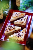 Chocolate slices with Baileys (Ireland)