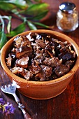 Beef ragout with mushrooms
